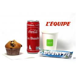 Le goûter du sportif avec 1 muffin
